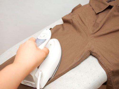 Глажка мужской рубашки со стрелками