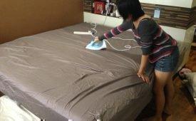 Нужно ли гладить утюгом постельное белье после стирки