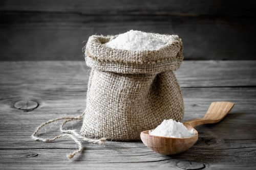 Стирка кухонного тюля солью