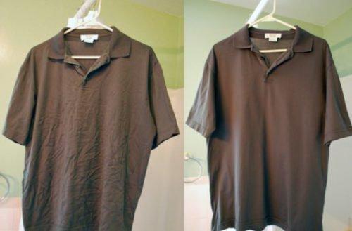 Глажка рубашки без утюга