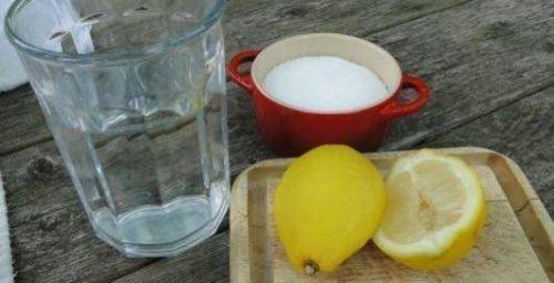 Лимон, щавелевая кислота и вода