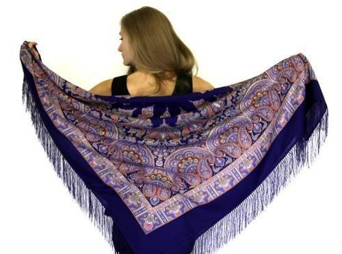 Павлопосадский шерстяной платок