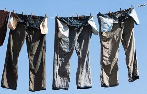 Постиранные штаны