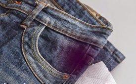 Как можно вывести пятна на джинсах в домашних условиях?