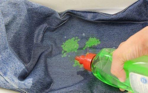 Штаны с пятнами краски
