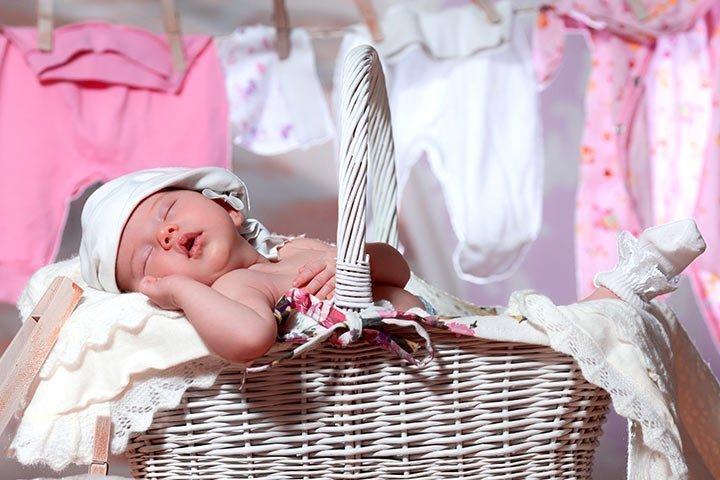 Стирка вещей новорожденного