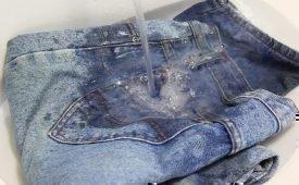 Чем лучше всего отстирывать жирные пятна на штанах