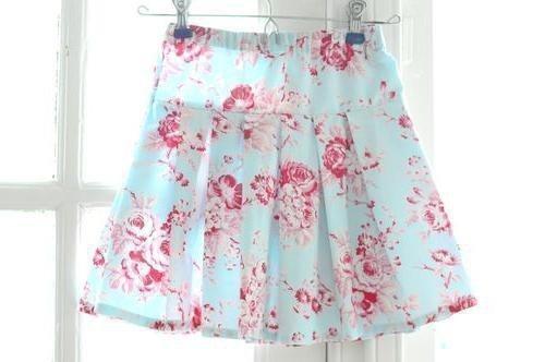 Плиссированная юбка из шифона