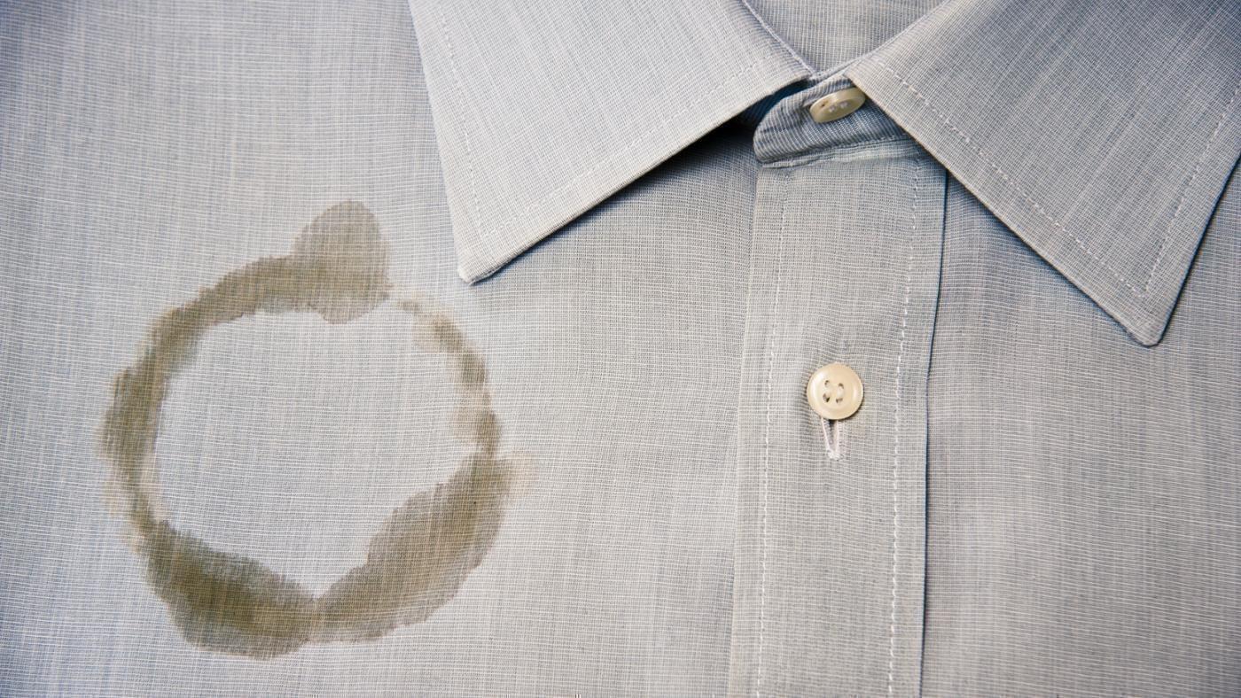 Жирное пятно на одежде