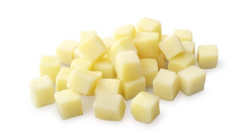 Порезанная картошка