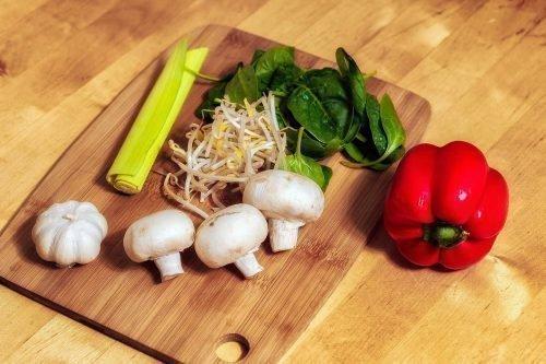 Грибы и овощи