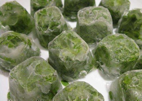 Замороженные кубики лука