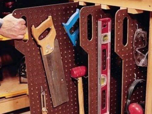 Идеи хранения инструмента в мастерской