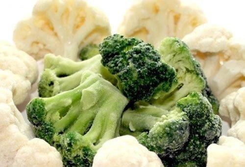 Замороженная цветная капуста и брокколи