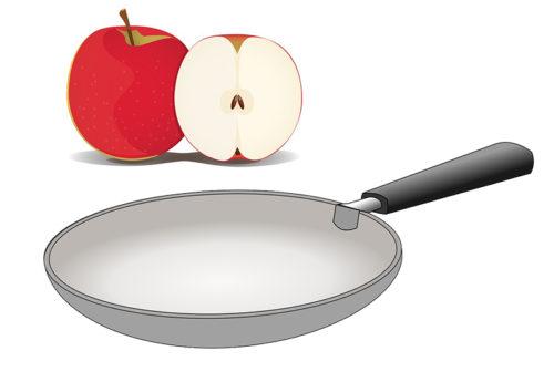 Чистка с яблоком