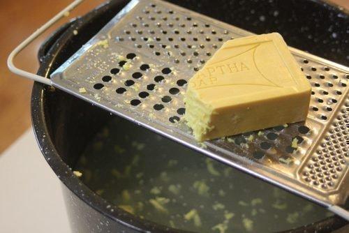 Гель из хозяйственного мыла