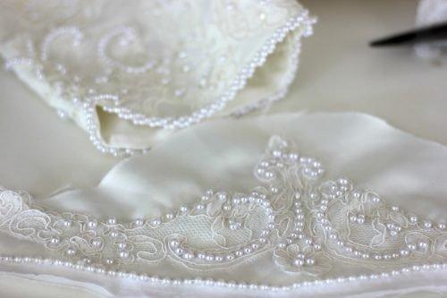 Глажение свадебного платья