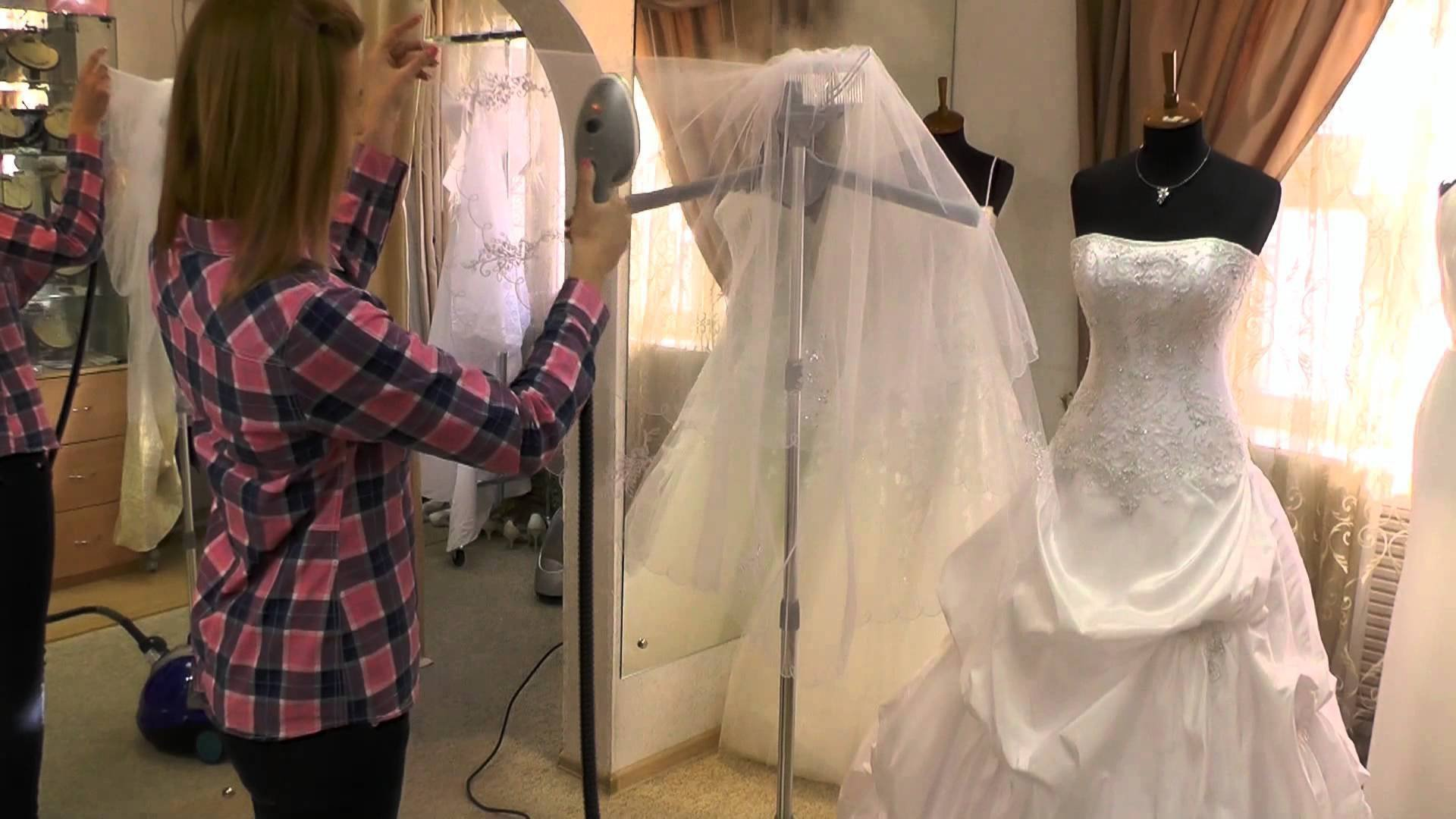 Отпарить свадебное платье цена