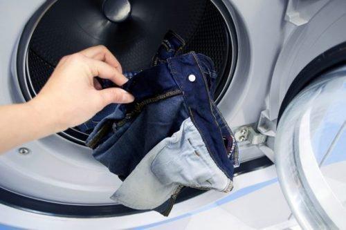 Джинсы в стиральной машинке
