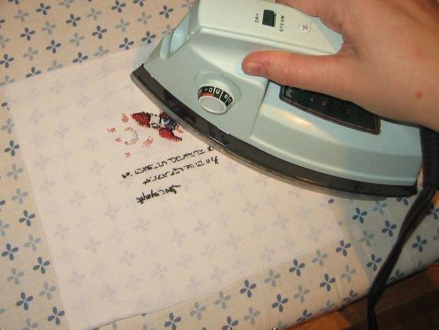Как правильно гладить вышивку 75