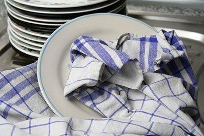Отбелить кухонные полотенца