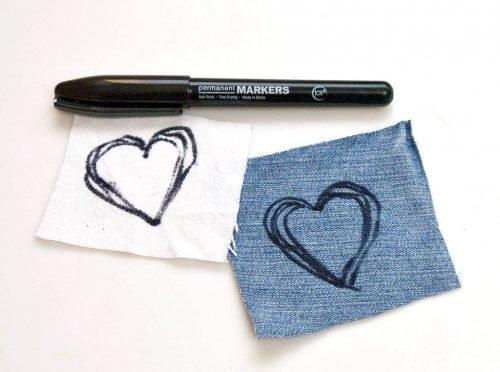 Сердечка маркером