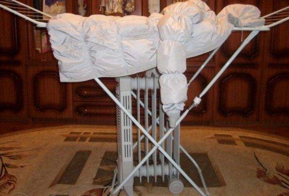 Как стирать и сушить пуховики