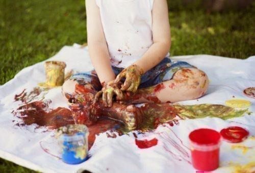 Убрать пятна от краски