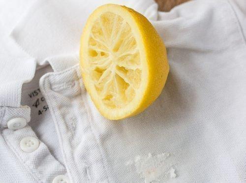 Убрать пятно лимоном