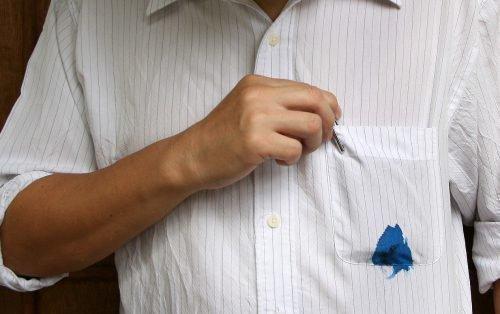 Убрать пятно от ручки