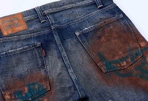 Убрать ржавчину с джинсов