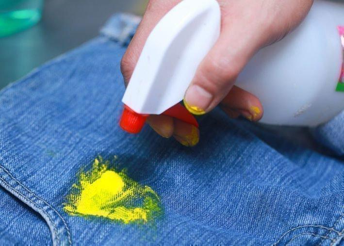 Как отстирать акриловые краски с одежды в домашних условиях