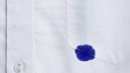 Удалить пятно от ручки