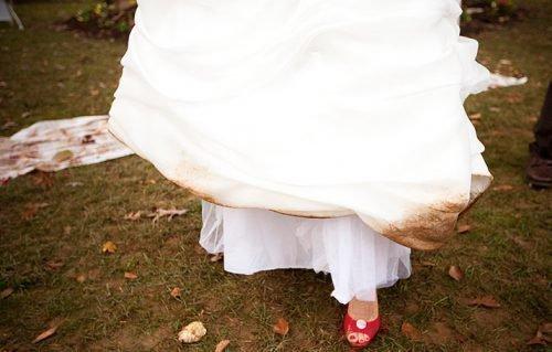 Грязь на свадебном платье