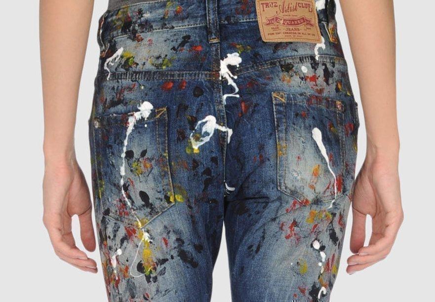 Как отстирать краску на джинсах в домашних условиях 383