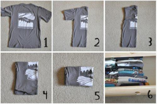 Хранение футболок