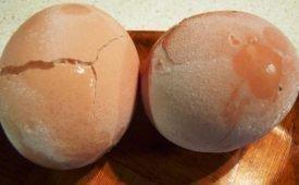 Замораживание вареных яиц