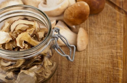 Хранение сушеных грибов